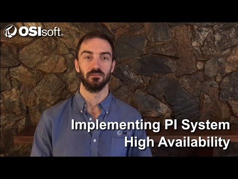 OSIsoft: Implementing PI System High Availability Online Course