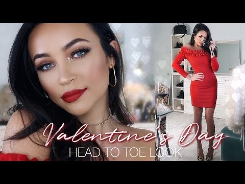 VALENTINE'S DAY LOOK : HEAD TO TOE [MAKEUP, HAIR, + OUTFIT] | Stephanie Ledda