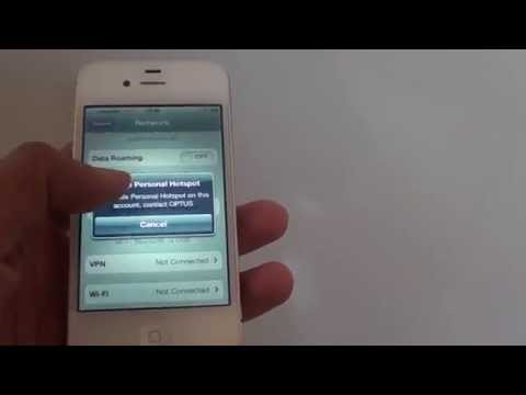 iPhone: Fix Problem With Setting Up Personal Wi-Fi Hotspot