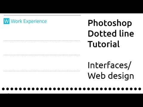 Create Perfect Dotted lines in Adobe Photoshop