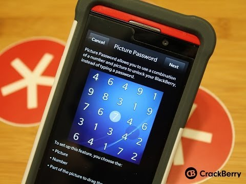 How to use Picture Password on BlackBerry 10.2.1