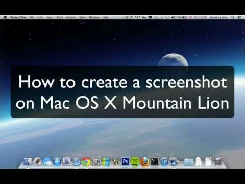 How To Capture A Screen Shot on Mountain Lion