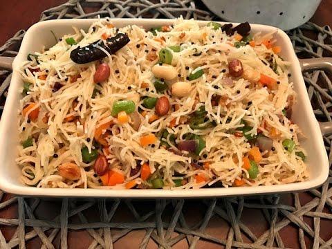 Vegetable Vermicelli Upma   Semiya Upma   Kids Lunch Box Recipe
