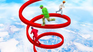 INTENSE DEADLY SPIRAL CLIMB CHALLENGE! (GTA 5 Funny Moments)