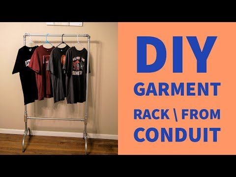DIY Garment Rack Out Of EMT Conduit - How To Video