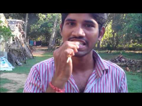 how to use neem stick as toothbrush and tongue cleaner