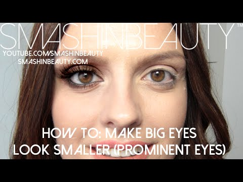 How to make big prominent eyes look smaller (makeup for beginners)