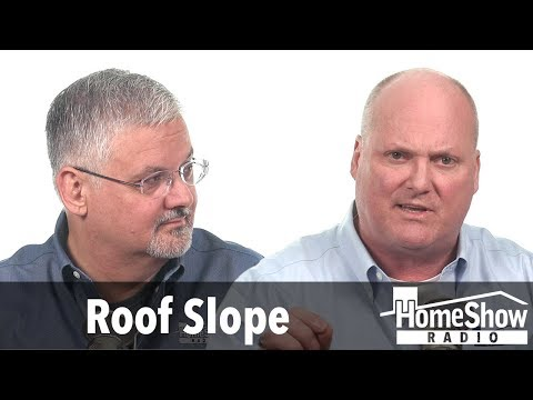 What's the minimum slope you'd recommend for a roof?