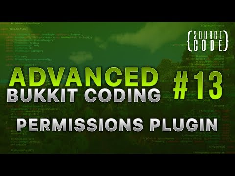 Advanced Bukkit Coding - Permissions Plugin - Episode 13