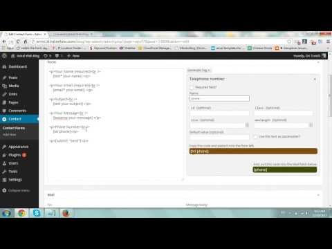 Using Contact Form 7 on Wordpress