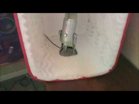 How to Make Your Own Mini Soundproof Sound Booth Box for Voice Over Recording Home Studio DIY