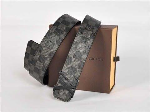 Louis Vuitton LV Buckle Black Belt