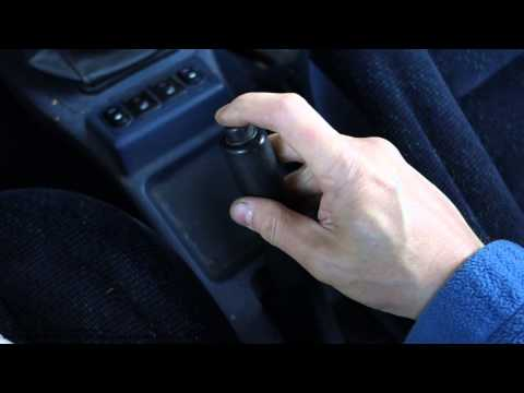 Car hand brake handle is damaged. How to repair it?
