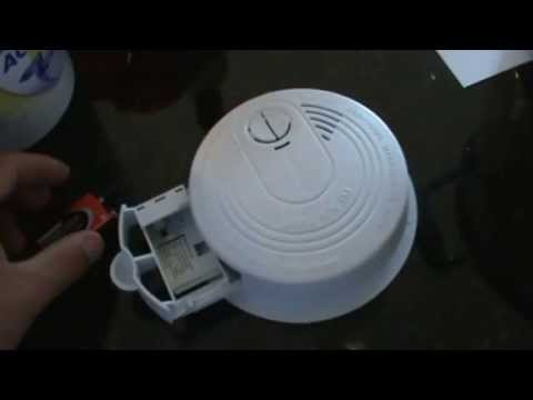 How to stop the smoke detector from chirping or beeping See Description