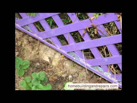 Don't use Water and Debris Catching Wood Trim at Bottom of Lattice Fence