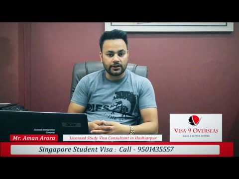 Singapore Student Visa Guidance | Visa-9 Overseas | Mr. Aman Arora
