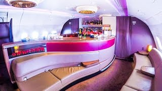 Qatar Airways A380 Business Class London to Doha