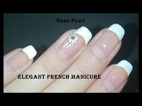 Easy DIY Elegant French Accent Nail Art Tutorial (FRENCH MANICURE) | Rose Pearl