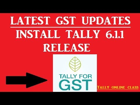 LATEST GST UPDATES (Gst Council in 22nd Meeting 6th Oct.2017)/Upgrade to  Tally 6.1.1 Release