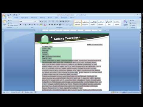 W07_008: Microsoft Basics - Creating a template for a business letter...