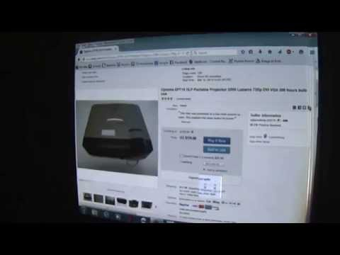 Optoma EP719 DLP Portable Projector 2200 Lumens test