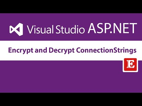 Encrypt and Decrypt connectionStrings in Web.Config | ASP.Net