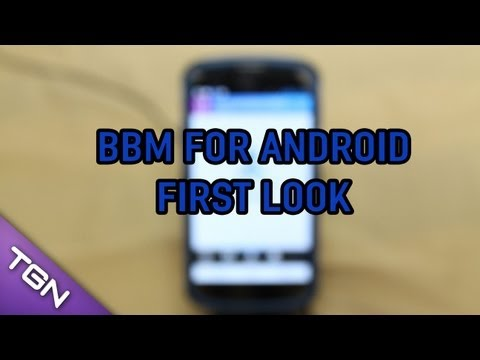 BBM on Android - Setup & First Look - LG Google Nexus 4
