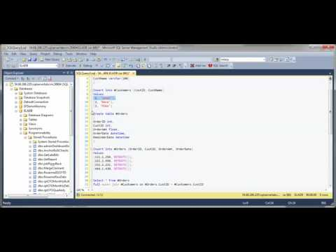 SQL Full Outer Join Syntax