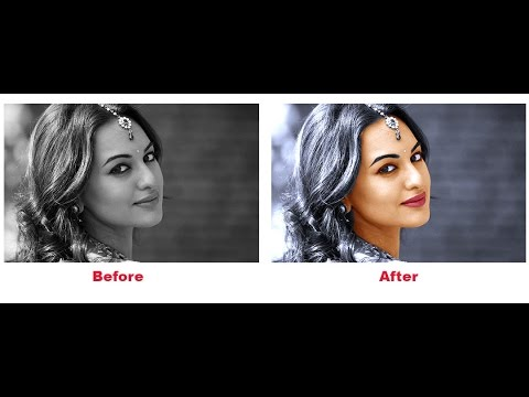 Newest Photoshop Tutorials-Converting Black and White Photo to Colour Photo