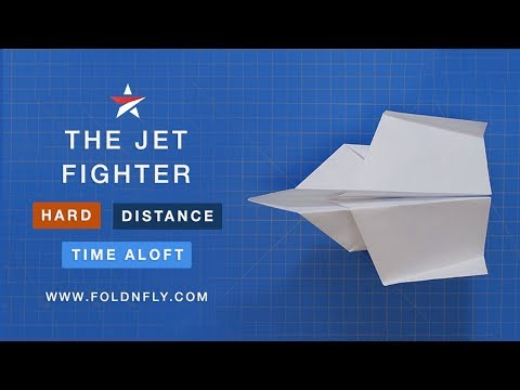 ✈ How To Make a Jet Fighter Paper Airplane Model - Fold 'N Fly
