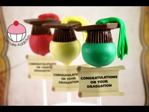 Make Easy Graduation Hat Cake Pops! A Cupcake Addiction How To Tutorial