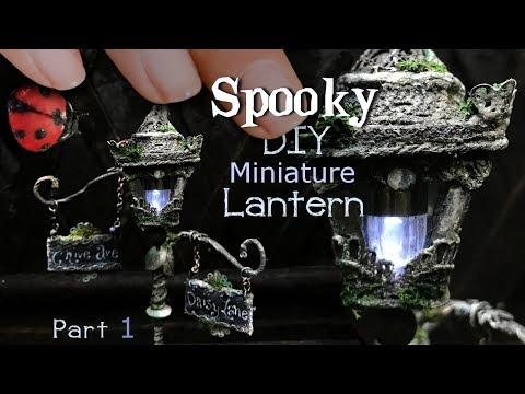 Working Miniature Street Light! How to Make a Miniature Lantern & Polymer Clay Lady Bug, P1