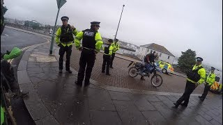 pulled by the police on a dirt bike in plymouth