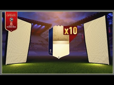 TWO BRAND NEW ICONS!! FIFA 18 WORLD CUP MODE  - 10x GUARANTEED ICON PACK