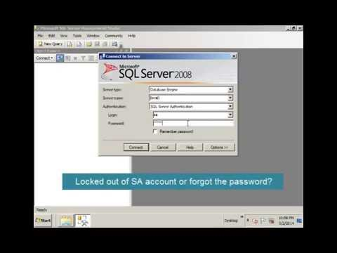 How to Reset or Unlock SA Account Password in SQL Server