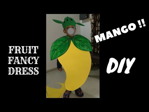 How to make mango dress/costume for kids from paper at home easily | DIY at Home