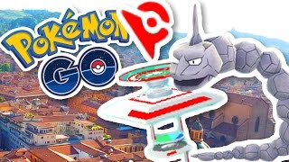 CLIMBING TO THE TOP OF THE GYM!! | Pokémon GO in Bologna, Siena, Italy w/ThinksWife