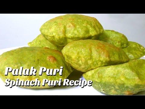 Palak Puri | Spinach Puri Recipe |How to make Palak Puri Recipe | Hyderabadi Ruchulu |