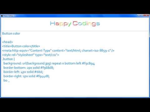 HTML | Button color