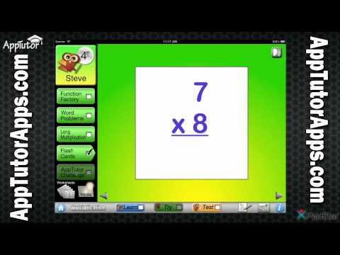 AppTutor G4M Grade 4 Multiplication App Video Tour