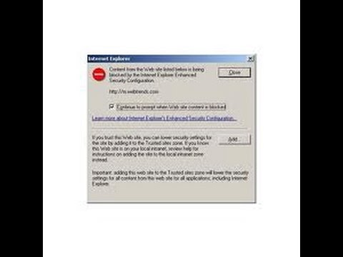 how to disable enhanced security configuration in server 2003