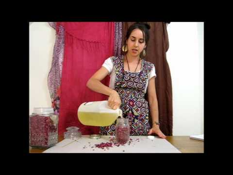 **How to Make Rose Oil** Cold Infusion Method