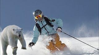 Perseguida por un oso mientras practicaba snowboard en Japón