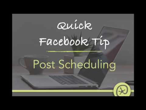 How to schedule a Facebook Post to your Business Page on a mobile