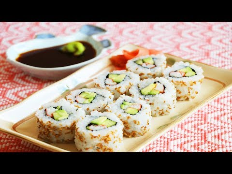 How to Make California Sushi Rolls at Home? CiCi Li