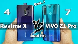Realme X Vs ViVO Z1 Pro Speed Test Comparison || Specifications | AnTuTu Benchmark Scores