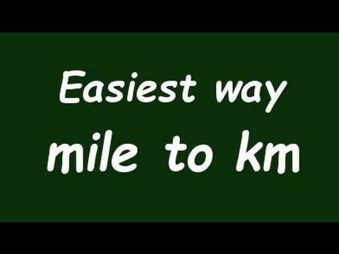 ✅ Convert  Mile to Kilometer (mile to Km) - Example and Formula