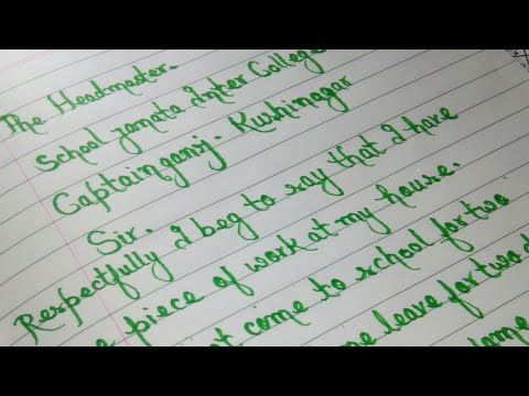 How to write a leave application letter for school -