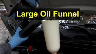 Oversize 2 Liter 21 Quart Oil Fill Funnel Votd