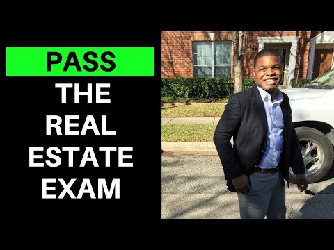 How to pass the real estate exam